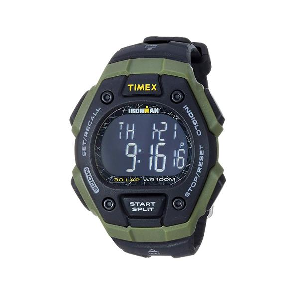 TIMEX(タイメックス) / TW5M24200 / Ironman / Classic 30ラップ / ブラック&グリーン&ネガティブ メンズ 腕時計