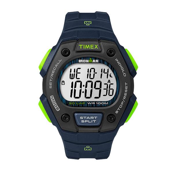 TIMEX(タイメックス) / TW5M11600 / Ironman / Classic 30ラップ / ブルー&ライム&ブラック メンズ 腕時計