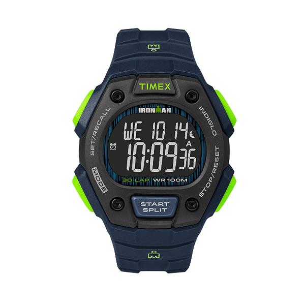 TIMEX(タイメックス) / TW5M18800 / Ironman  / Classic 30ラップ ブルー&ライム&ネガティブ/  メンズ 腕時計