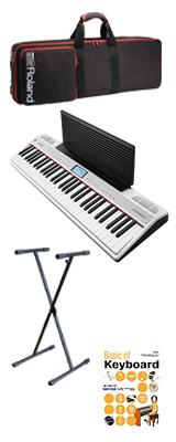 【シンプルセット】 Roland(ローランド) / GO:PIANO with Alexa Built-in (GO-61P-A) - Alexa搭載 キーボード - 1大特典セット