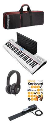 【最低限自宅練習セット】 Roland(ローランド) / GO:PIANO with Alexa Built-in (GO-61P-A) - Alexa搭載 キーボード - 1大特典セット