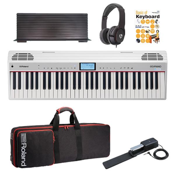 【最低限自宅練習セット】 Roland(ローランド) / GO:PIANO with Alexa Built-in (GO-61P-A) - Alexa搭載 キーボード -