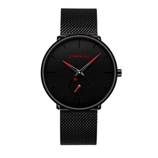 FIZILI(フィジリ) / X0110025US / ミニマリズム レッドポインター / メンズ 腕時計