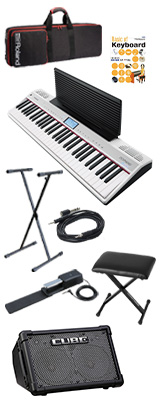 【CUBE STREETEXセット】 Roland(ローランド) / GO:PIANO with Alexa Built-in (GO-61P-A) - Alexa搭載 キーボード - 1大特典セット