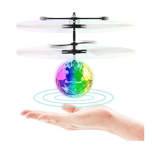 Toyk / 空飛ぶ 赤外線センサー付き LEDライト ボール おもちゃ