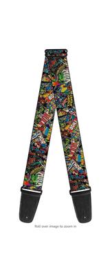 Buckle Down(バックルダウン) / Retro Marvel Comic Books Stacked CLOSE-UP アメコミ風 【MARVEL マーベル公式ライセンス品】 ギターストラップ