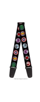 Buckle Down(バックルダウン) / 9 Avenger Icons アベンジャーズ アイコンデザイン 【MARVEL マーベル公式ライセンス品】 ギターストラップ
