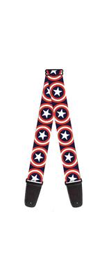 Buckle Down(バックルダウン) / Captain America Shield キャプテンアメリカ 【MARVEL マーベル公式ライセンス品】 ギターストラップ
