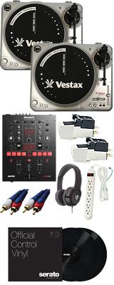 PDX-2000USED / Scratch 【Serato DJ Pro / Serato DVS無償】 (Pioneer DJ Numark)カートリッジ付フルDVSスタートセット【次回12月頃予定】 12大特典セット