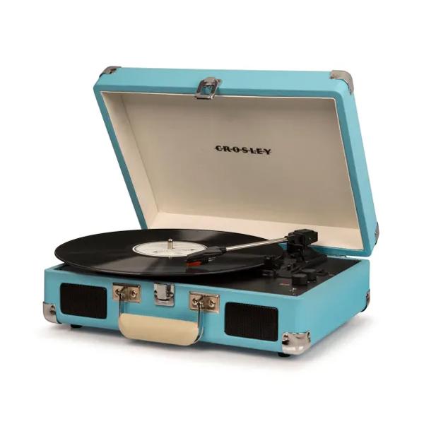 Crosley(クロスレイ) / CR8005DTU / Cruiser Deluxe(Turquoise) / Bluetooth対応 ポータブル レコードプレイヤー