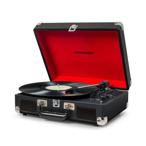 Crosley(クロスレイ) / CR8005DBK / Cruiser Deluxe(Black) / Bluetooth対応 ポータブル レコードプレイヤー