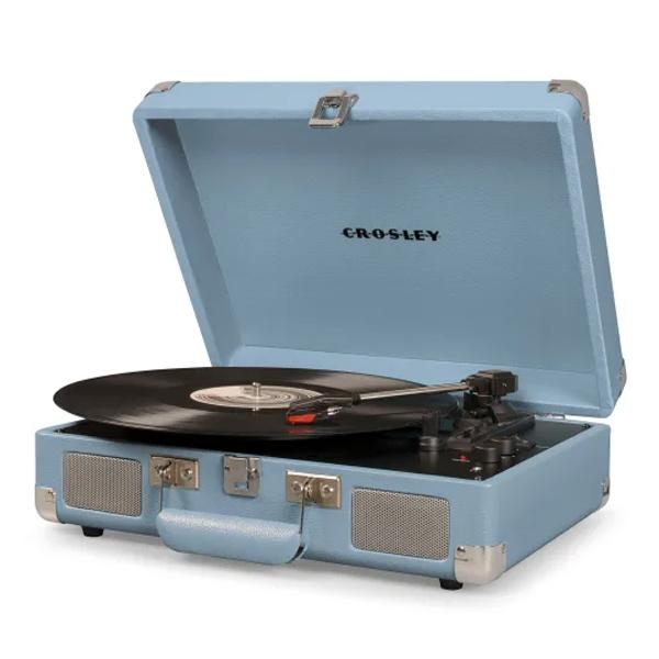 Crosley(クロスレイ) / CR8005D-TN / Cruiser Deluxe(Tourmaline) / Bluetooth対応 ポータブル レコードプレイヤー