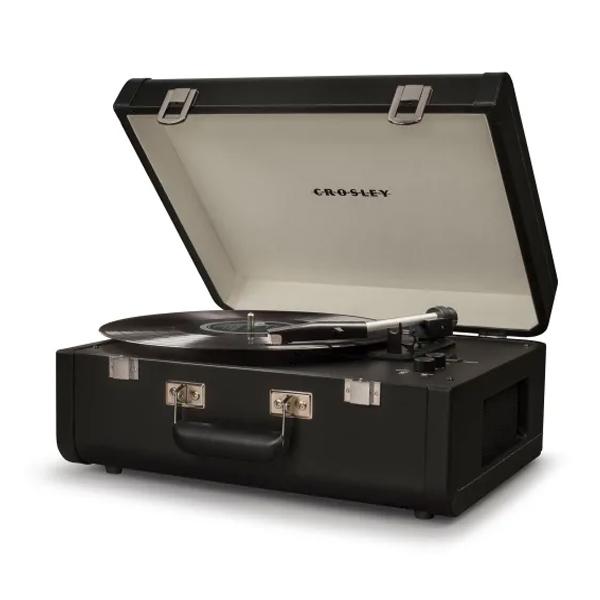 Crosley(クロスレイ) / CR6252A-BK / Portfolio(Black) / Bluetooth対応 ポータブル レコードプレイヤー