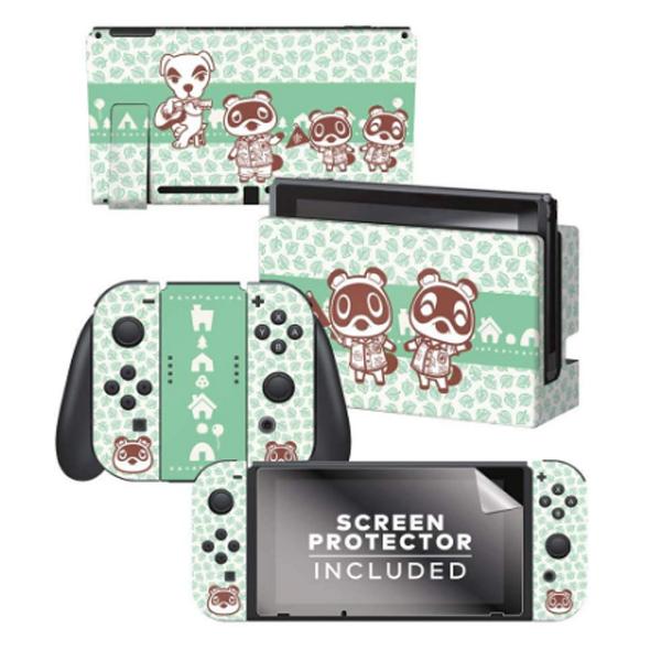 Controller Gear / animal crossing (つぶきち まめきち とたけけ) / あつまれ どうぶつの森 海外限定品 公式ライセンス品 / Nintendo Switch用 ドックスキン カバー