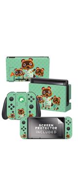 Controller Gear / animal crossing (つぶきち まめきち たぬきち) / あつまれ どうぶつの森 海外限定品 公式ライセンス品 / Nintendo Switch用 ドックスキン シール