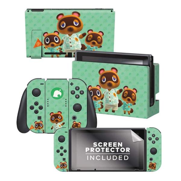 Controller Gear / animal crossing (つぶきち まめきち たぬきち) / あつまれ どうぶつの森 海外限定品 公式ライセンス品 / Nintendo Switch用 ドックスキン カバー