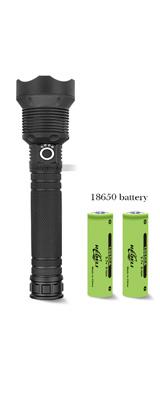 90000ルーメン XHP70.2強力なラッシュライト / 懐中電灯 ハンドライト 【本体+充電器+18650バッテリー】