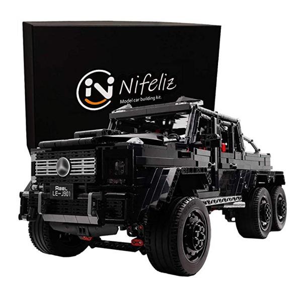 Nifeliz Black Pickup / G63 AMG 6X6 / MOCスポーツカー /スケール 1/8 3300ピース  / メルセデス・ベンツ ブロック おもちゃ