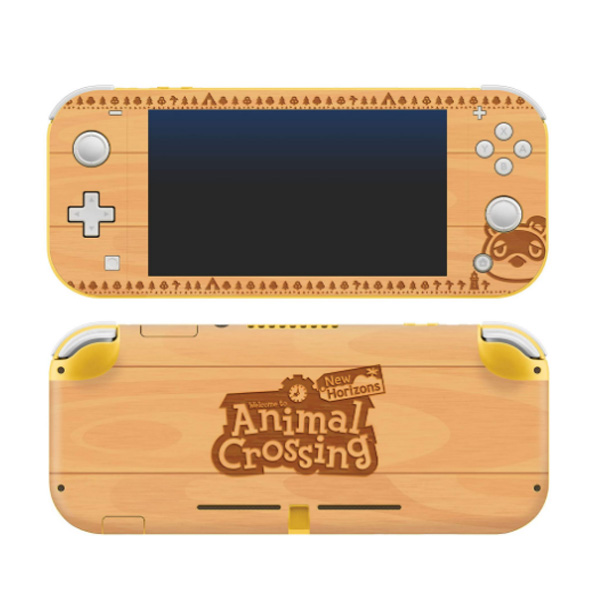 Controller Gear / animal crossing (たぬきち 木目調) / あつまれ どうぶつの森 海外限定品 公式ライセンス品 / Nintendo Switch Lite用 スキン カバー シール