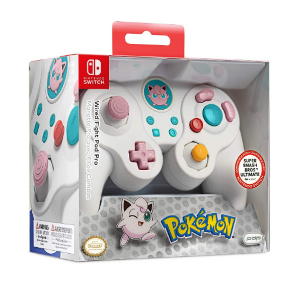PDP / Jiggly Puff  プリン / ポケモン 海外限定品 公式ライセンス品 / Nintendo Switch用  ゲームキューブ型 ゲーム コントローラー