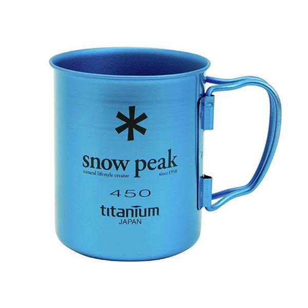Snow Peak(スノーピーク) / Titanium 450 (ブルー) / チタン シングルウォール マグ / アウトドア マグカップ