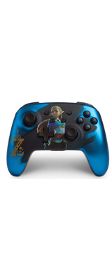 PowerA / Satin Blue Chrome Zelda ゼルダの伝説  / 海外限定品 公式ライセンス品 / Nintendo Switch用  Bluetooth ゲーム コントローラー