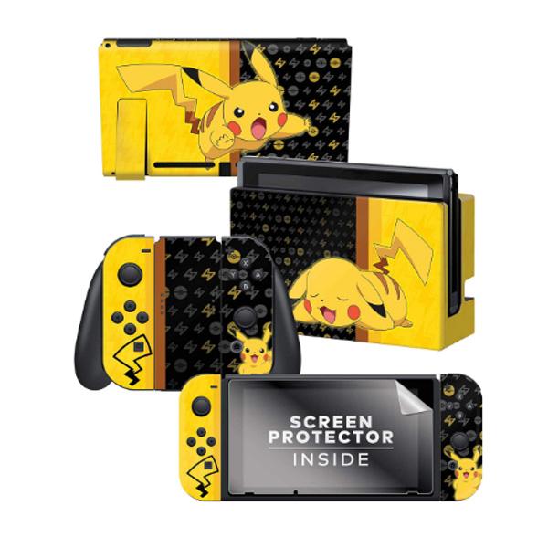 Controller Gear / Pikachu Set 1 / ポケモン ピカチュウ / 海外限定品 公式ライセンス品 / Nintendo Switch用 ドックスキン カバー