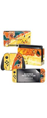 Controller Gear / Pikachu Vs Charizard (ピカチュウ vs リザードン) 海外限定品 任天堂公式ライセンス品 / Nintendo Switch用 ドックスキン シール 【ポケモン】