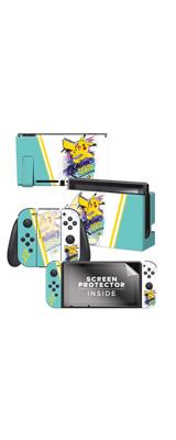 Controller Gear / Skate Pikachu / ポケモン ピカチュウ / 海外限定品 公式ライセンス品 / Nintendo Switch用 ドックスキン シール