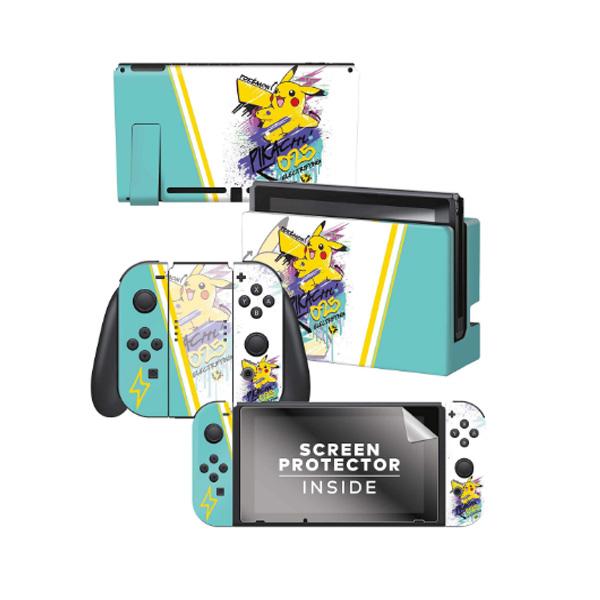 Controller Gear / Skate Pikachu / ポケモン ピカチュウ / 海外限定品 公式ライセンス品 / Nintendo Switch用 ドックスキン カバー