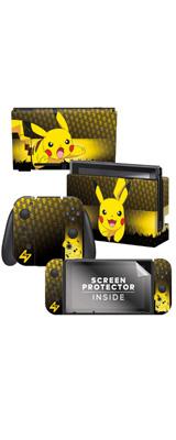 Controller Gear / Pikachu Elemental (ピカチュウ) 海外限定品 任天堂公式ライセンス品 / Nintendo Switch用 ドックスキン シール 【ポケモン】