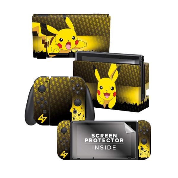 Controller Gear / Pikachu Elemental / ポケモン ピカチュウ / 海外限定品 公式ライセンス品 / Nintendo Switch用 ドックスキン カバー