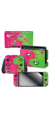 Controller Gear / Pink Vs Green / Splatoon 2  スプラトゥーン2 / 海外限定品 公式ライセンス品 / Nintendo Switch用 ドックスキン シール