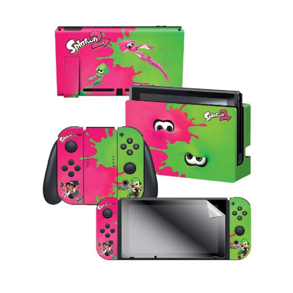 Controller Gear / Pink Vs Green / Splatoon 2  スプラトゥーン2 / 海外限定品 公式ライセンス品 / Nintendo Switch用 ドックスキン カバー