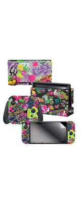 Controller Gear / Splatoon 2 (Stick Em' Up) 海外限定品 任天堂公式ライセンス品 / Nintendo Switch用 ドックスキン シール 【スプラトゥーン】