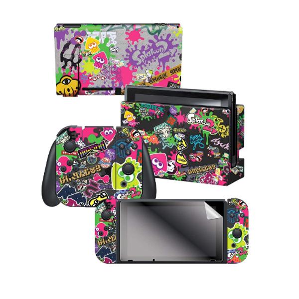 Controller Gear / Stick Em Up / Splatoon 2  スプラトゥーン2 / 海外限定品 公式ライセンス品 / Nintendo Switch用 ドックスキン カバー