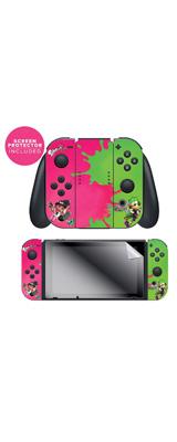 Controller Gear / Pink Vs Green / Splatoon 2  スプラトゥーン2 / 海外限定品 公式ライセンス品 / Nintendo Switch Joy-Con用 スキン カバー