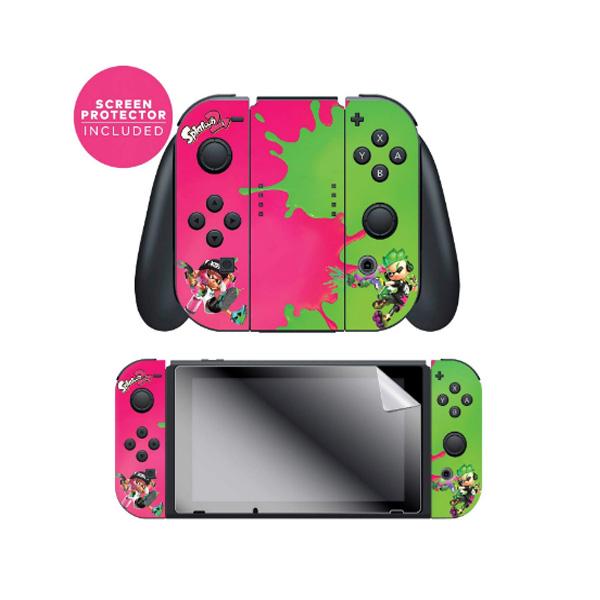 Controller Gear / Pink Vs Green / Splatoon 2  スプラトゥーン2 / 海外限定品 公式ライセンス品 / Nintendo Switch用 スキン カバー