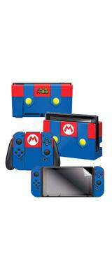 Controller Gear / Mario's Outfit 海外限定品 任天堂公式ライセンス品 / Nintendo Switch用 ドックスキン シール 【スーパーマリオ】