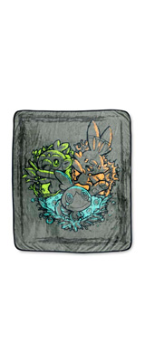 Pokemon Center(ポケモンセンター) / Galar Friends Fleece Throw / 海外限定 剣盾 ガラル 御三家 スロー ブランケット