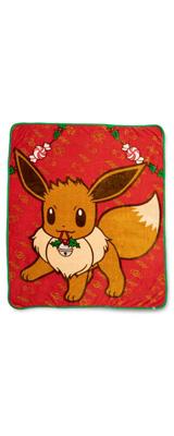 Pokemon Center(ポケモンセンター) / Eevee Pok mon Holiday Fleece Throw / 海外限定 イーブイ スロー ブランケット