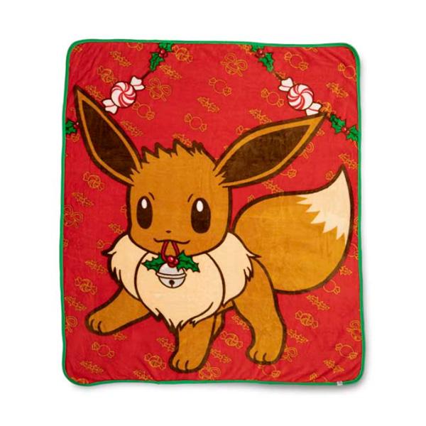 Pokemon Center(ポケモンセンター) / Eevee Pokémon Holiday Fleece Throw / 海外限定 イーブイ スロー ブランケット