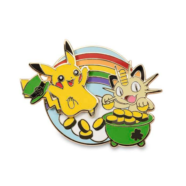 Pokemon Center(ポケモンセンター) / Leaping Into Luck Sliding Celebrations Pokémon Pin /海外限定 ポケモン ピカチュウ ニャース  ピンバッジ