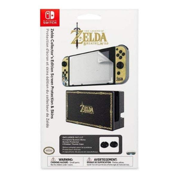 PDP / Nintendo Switch Zelda Collector's Edition Screen Protection & Skins / 海外限定品 公式ライセンス品 / Nintendo Switch用 ドックスキン カバー
