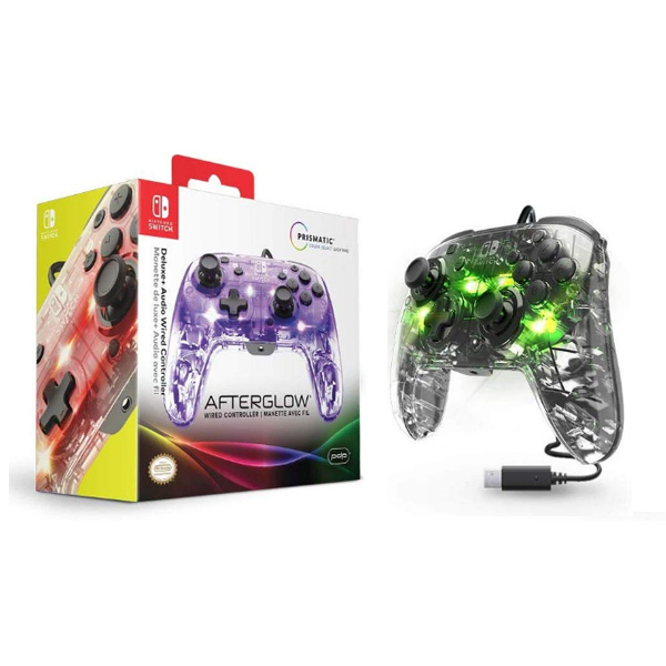 PDP / 500-132-NA Afterglow Deluxe Wired Controller / Nintendo Switch / 海外限定 LED 光る Switch用コントローラー