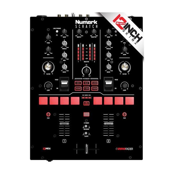 12inch SKINZ / Numark Scratch Skinz COLORS (ブラック)  【Scratch用 接着タイプスキン】