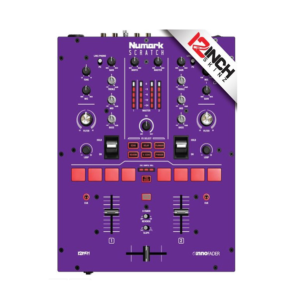 12inch SKINZ / Numark Scratch Skinz COLORS (パープル)  【Scratch用 接着タイプスキン】