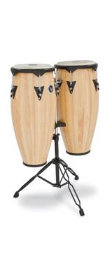 Latin Percussion(ラテン パーカッション) / City Wood Congas AW(ナチュラル) 専用スタンド付き 10インチ + 11インチ コンガセット