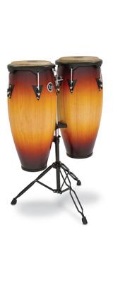 Latin Percussion(ラテン パーカッション) / City Wood Congas VSB(ビンテージサンバースト) 専用スタンド付き 10インチ + 11インチ コンガセット