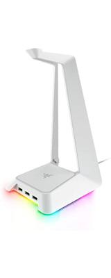 Razer(レイザー) / Base Station Chroma (Mercury White) USBハブ 3基搭載 光るヘッドホンスタンド